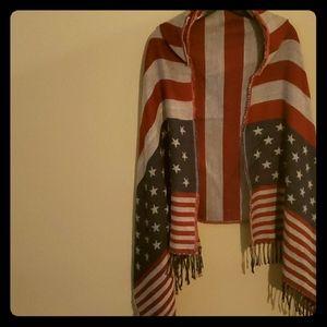 Jackets & Blazers - American Flag Cape with Hood